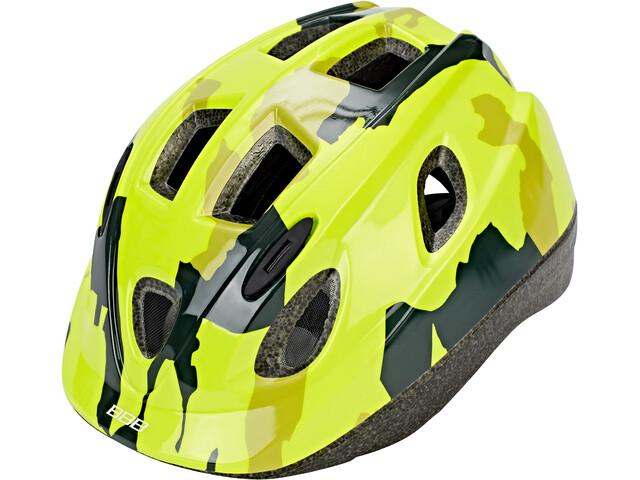 BBB Boogy BHE-37 Cykelhjelm Børn, camouflage/neon yellow